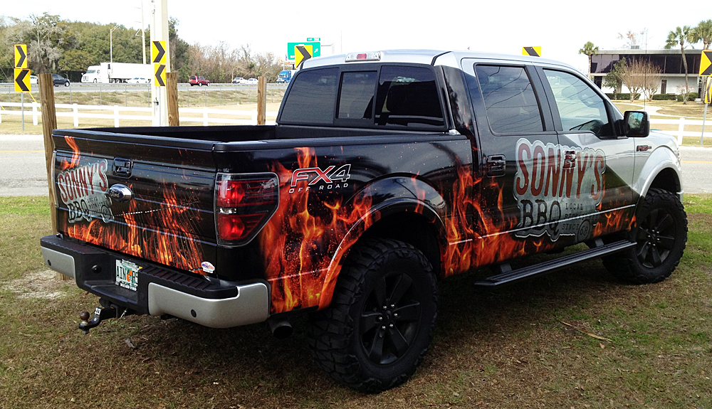 Sonny S Bbq Truck Bb Graphics Amp The Wrap Pros