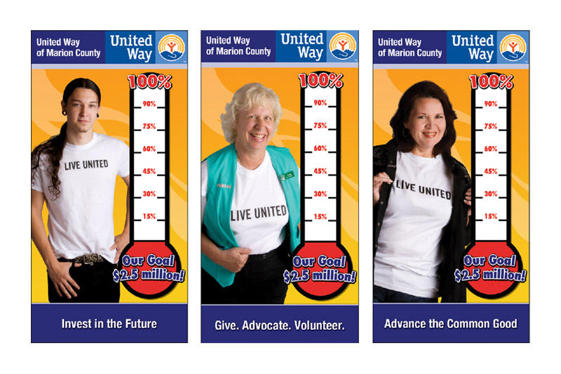 United Way Thermometers Bb Graphics Amp The Wrap Pros
