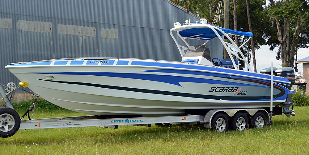 Scarab Boat Wrap Bb Graphics Amp The Wrap Pros