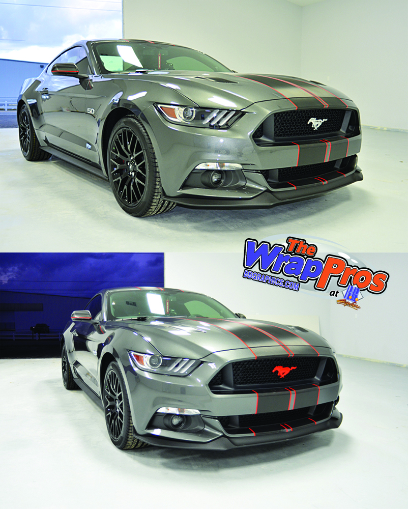 Grey Mustang Carbon Fiber Stripes Bb Graphics Amp The Wrap