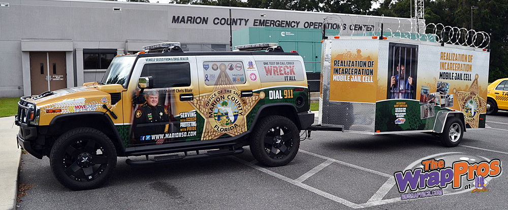 Marion County Sheriff S Office Hummer And Trailer Bb