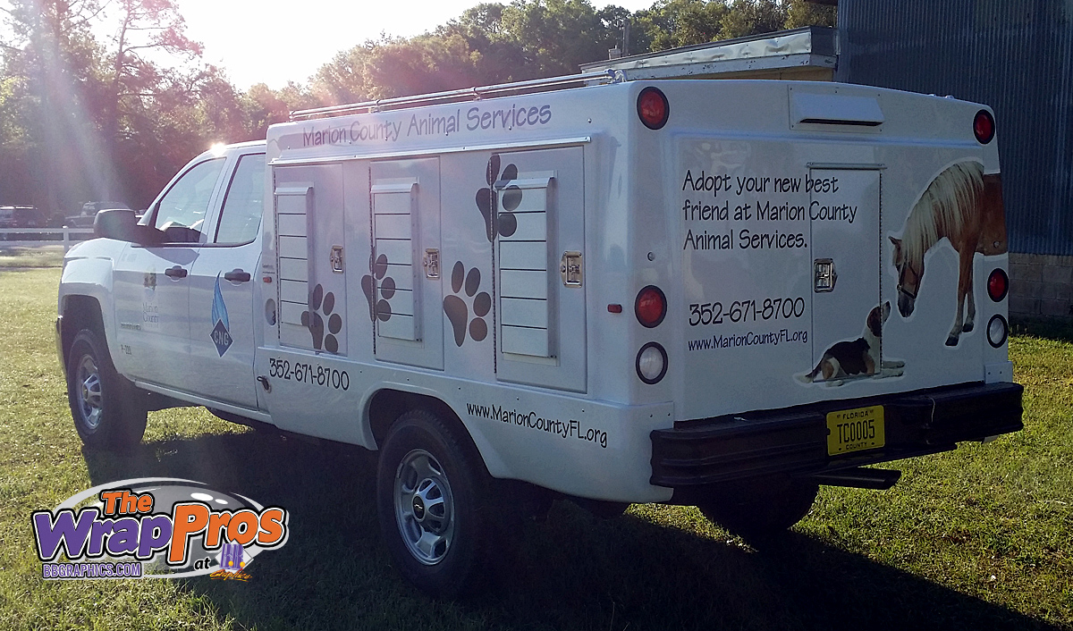 Marion County Animal Control Services Truck Bb Graphics