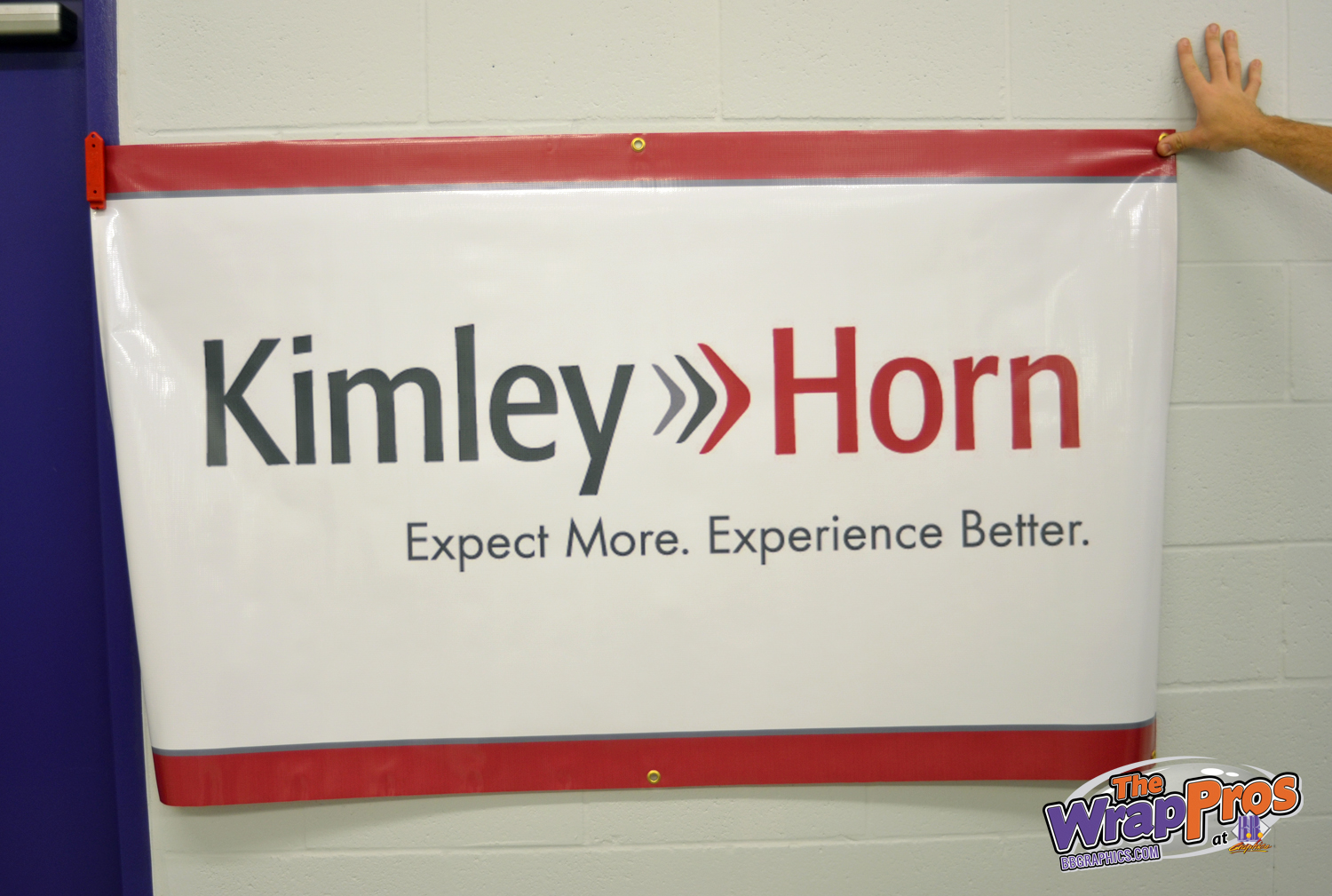 Kimley horn banner bb graphics the wrap pros Kimley horn