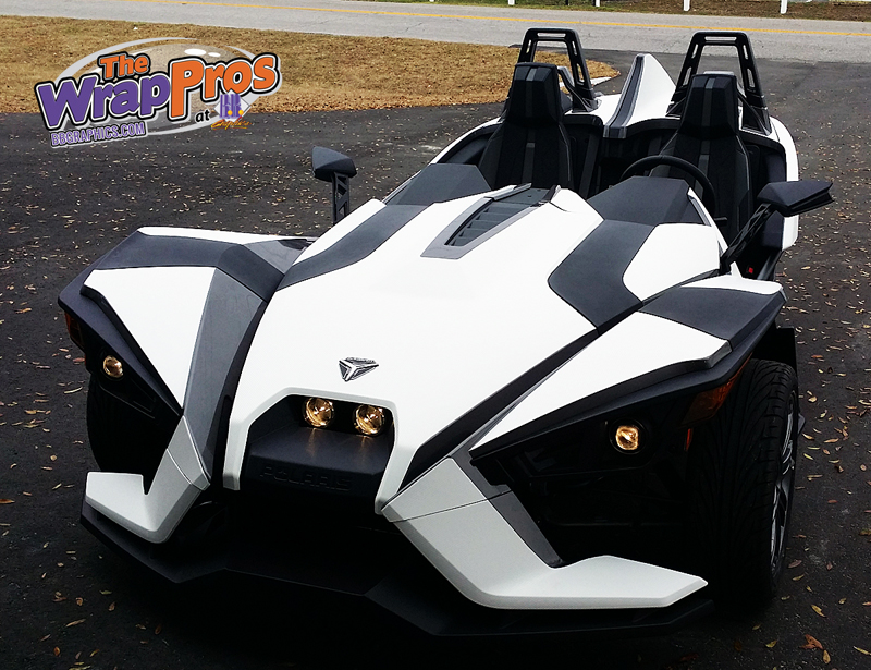 White Carbon Fiber Polaris Slingshot Bb Graphics Amp The