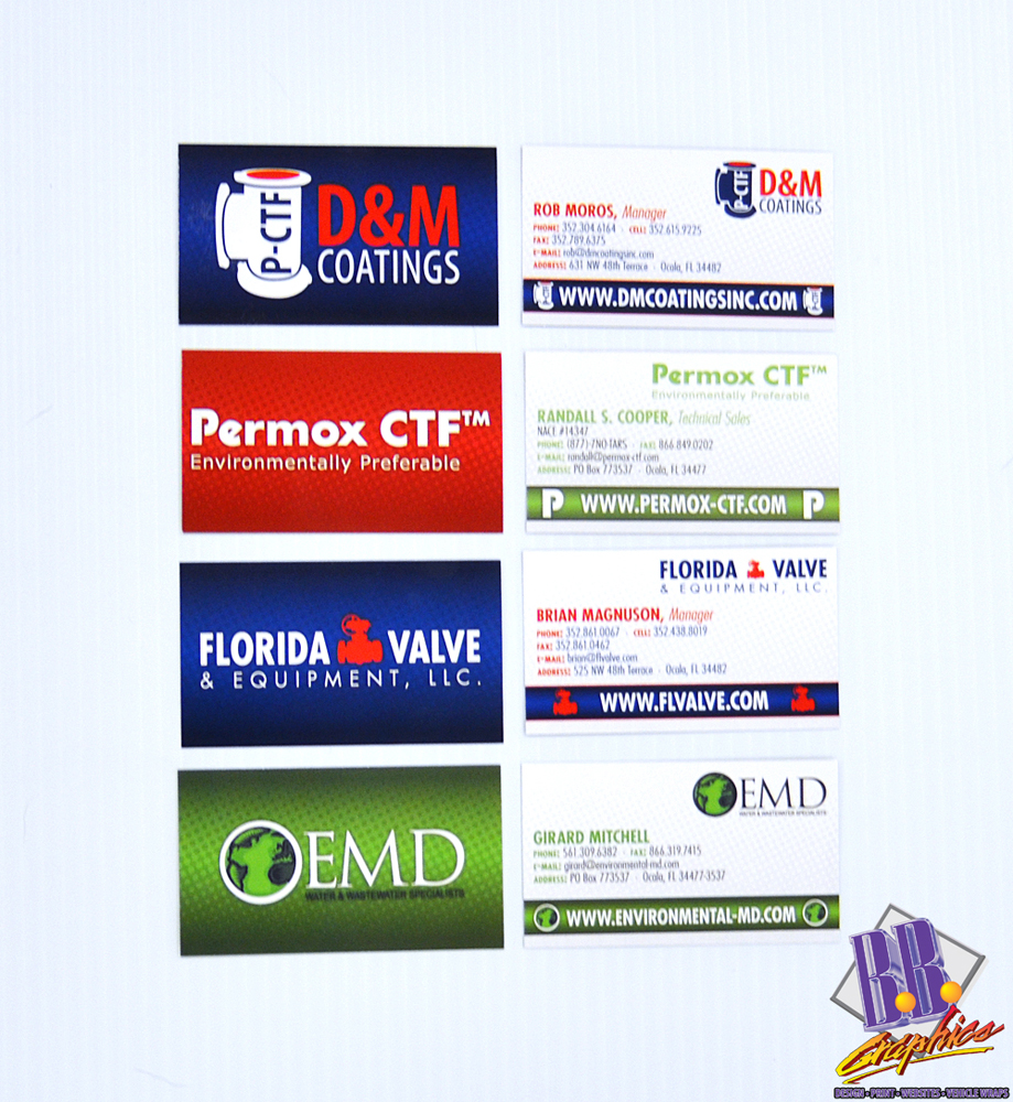 Environmental MD, Permox-CTF, Fl Valve & D&M Coatings Business Cards ...