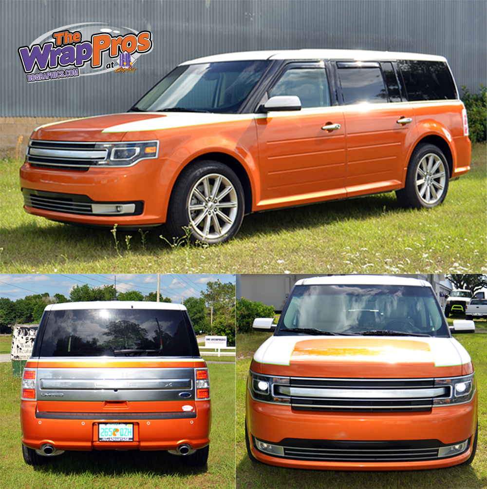 Ford Flex Color Change Amp Stripes Bb Graphics Amp The Wrap Pros
