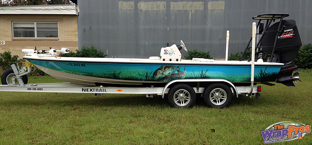 Redfisher Boat Wrap Bb Graphics Amp The Wrap Pros