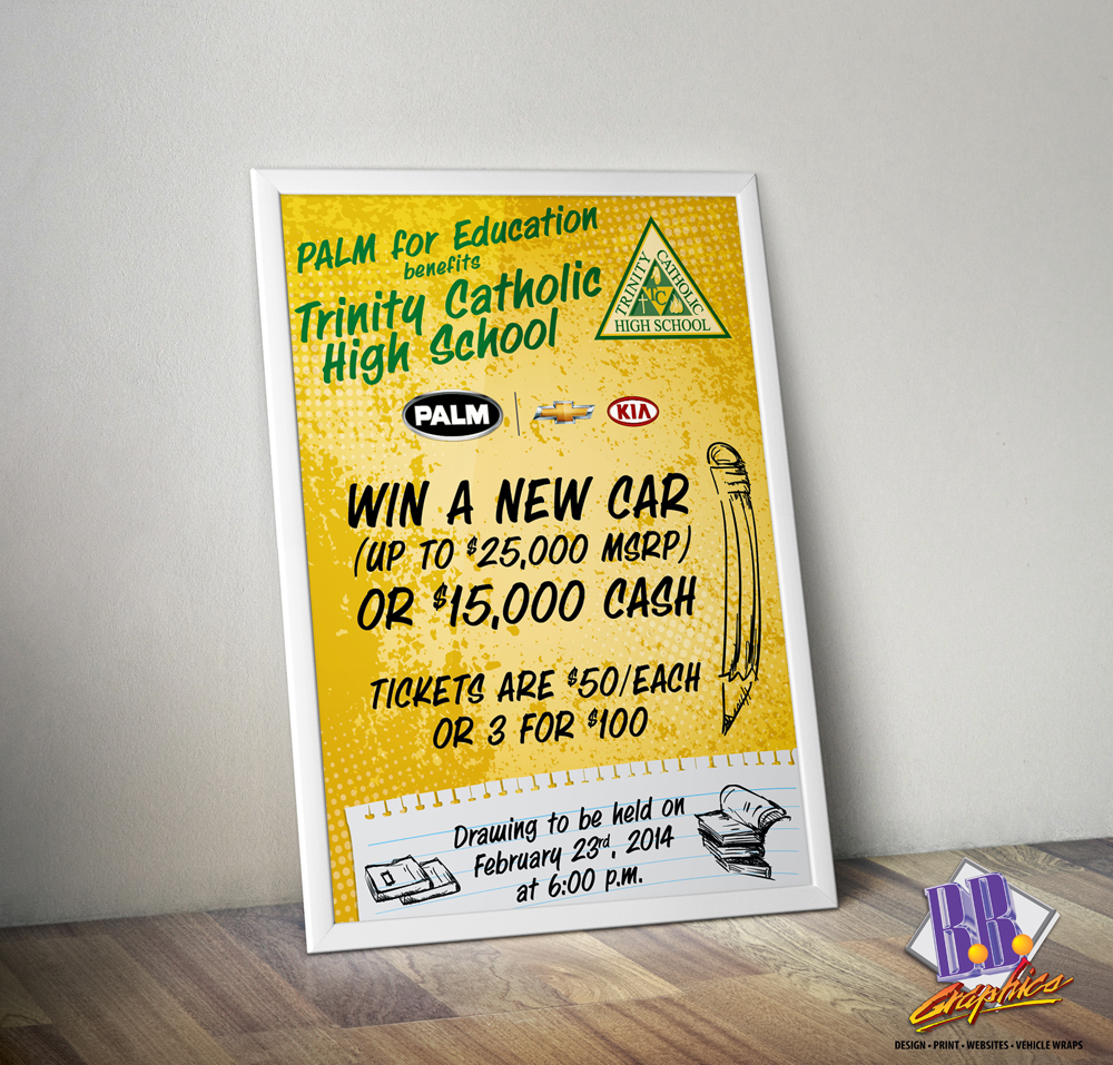 Tchs Carnival 2014 Car Raffle Poster   BB Graphics & The