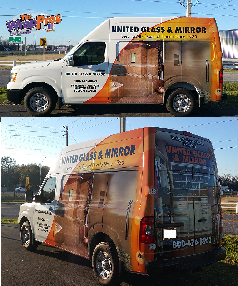 United Glass And Mirror Bb Graphics Amp The Wrap Pros