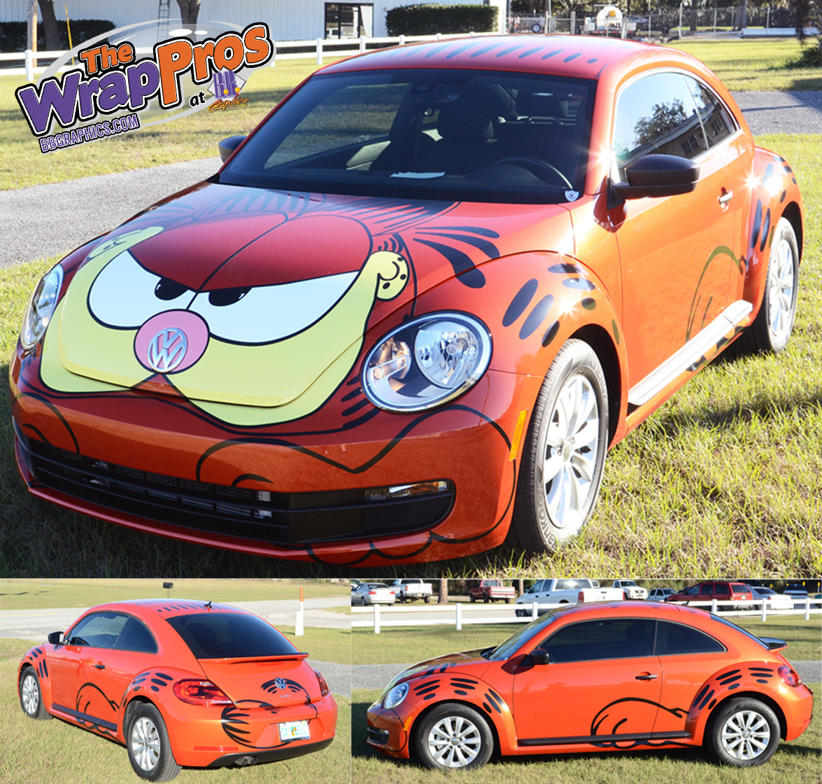 Garfield Vw Beetle Bb Graphics Amp The Wrap Pros