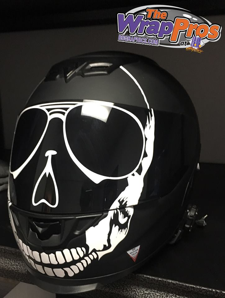 Skull Motorcycle Helmet Bb Graphics Amp The Wrap Pros