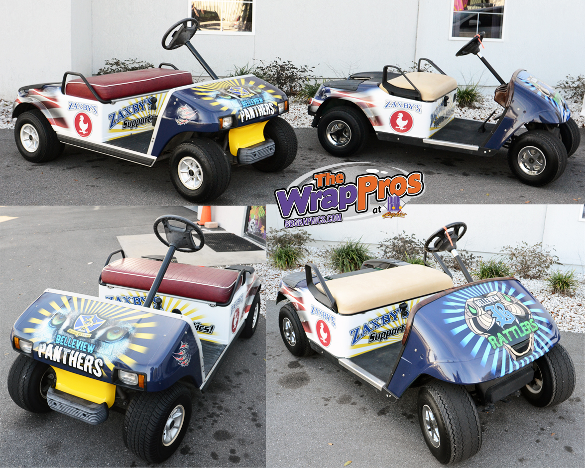 Zaxby S Sponsor Golf Carts Bb Graphics Amp The Wrap Pros