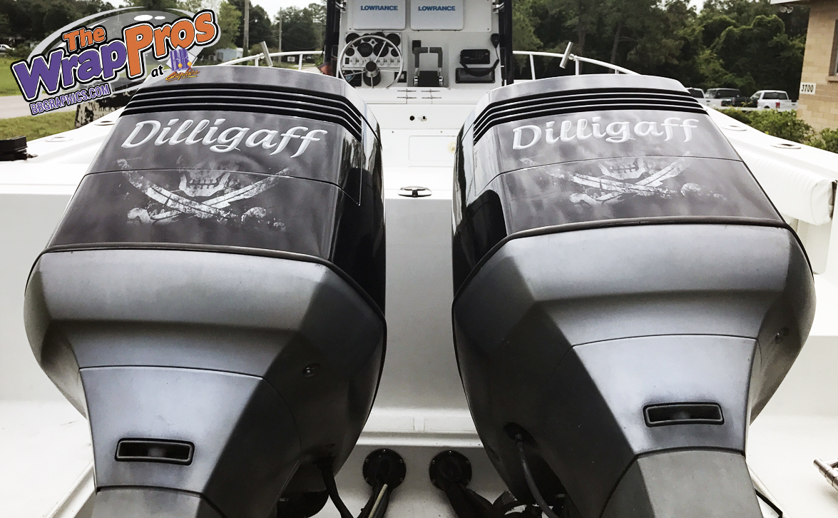 Dilligaff Boat Motor Cover Bb Graphics Amp The Wrap Pros