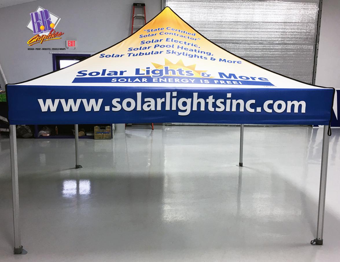 Solar Lights \u0026 More Tent & Solar Lights \u0026 More Tent | BB Graphics \u0026 The Wrap Pros