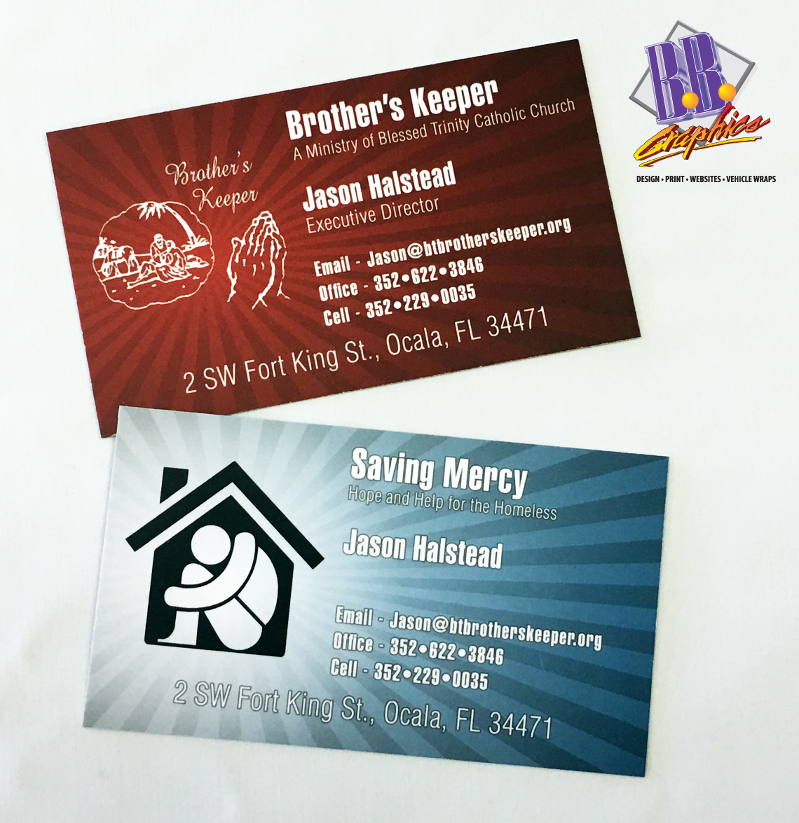 Brother\'s Keepers Business Card | BB Graphics & The Wrap Pros