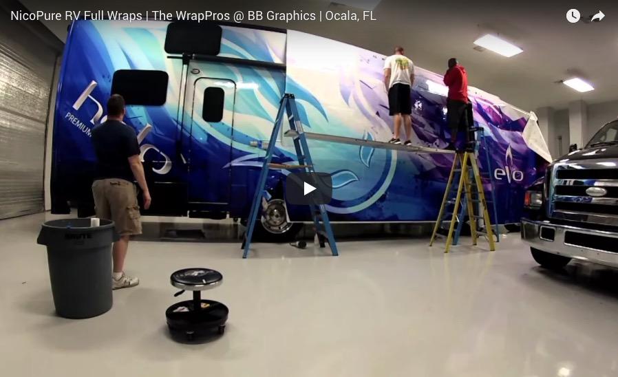 NicoPure RV Wrap Time Lapse | BB Graphics & The Wrap Pros