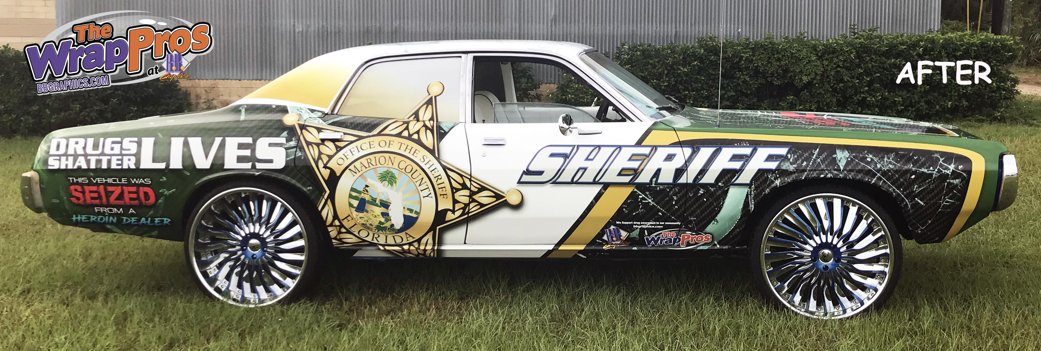 Mc Sheriff Anti Drug Coronet Bb Graphics Amp The Wrap Pros