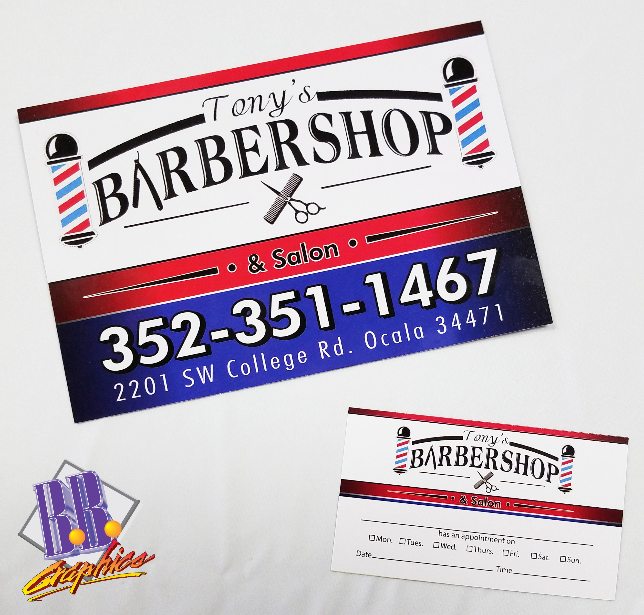 Tony\'s Barber Shop Business Cards and Post Cards | BB Graphics & The ...
