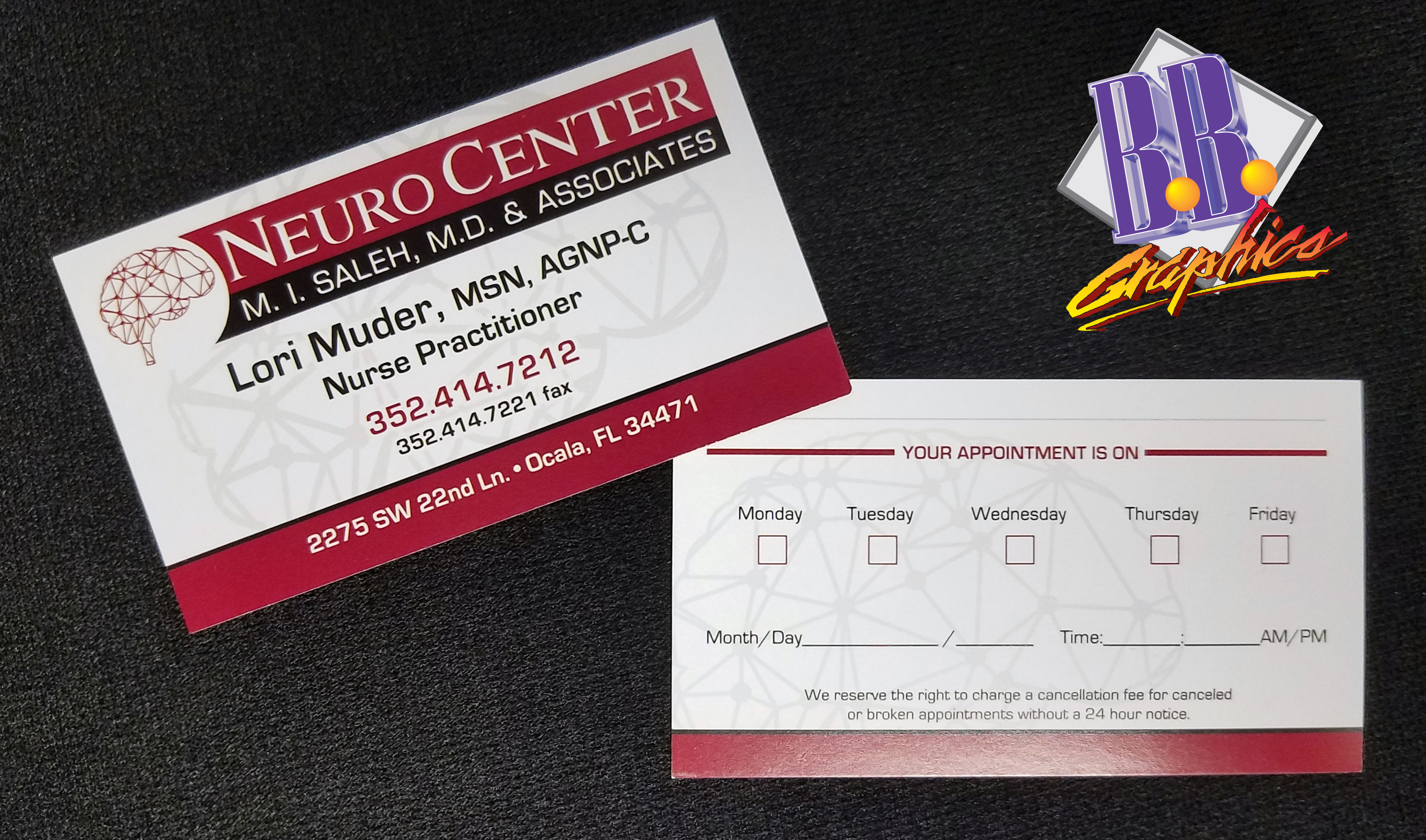 Neuro Center Business Cards | BB Graphics & The Wrap Pros