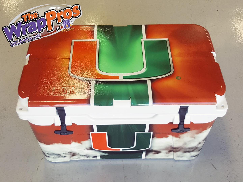 Miami Hurricanes Yeti Cooler Bb Graphics Amp The Wrap Pros