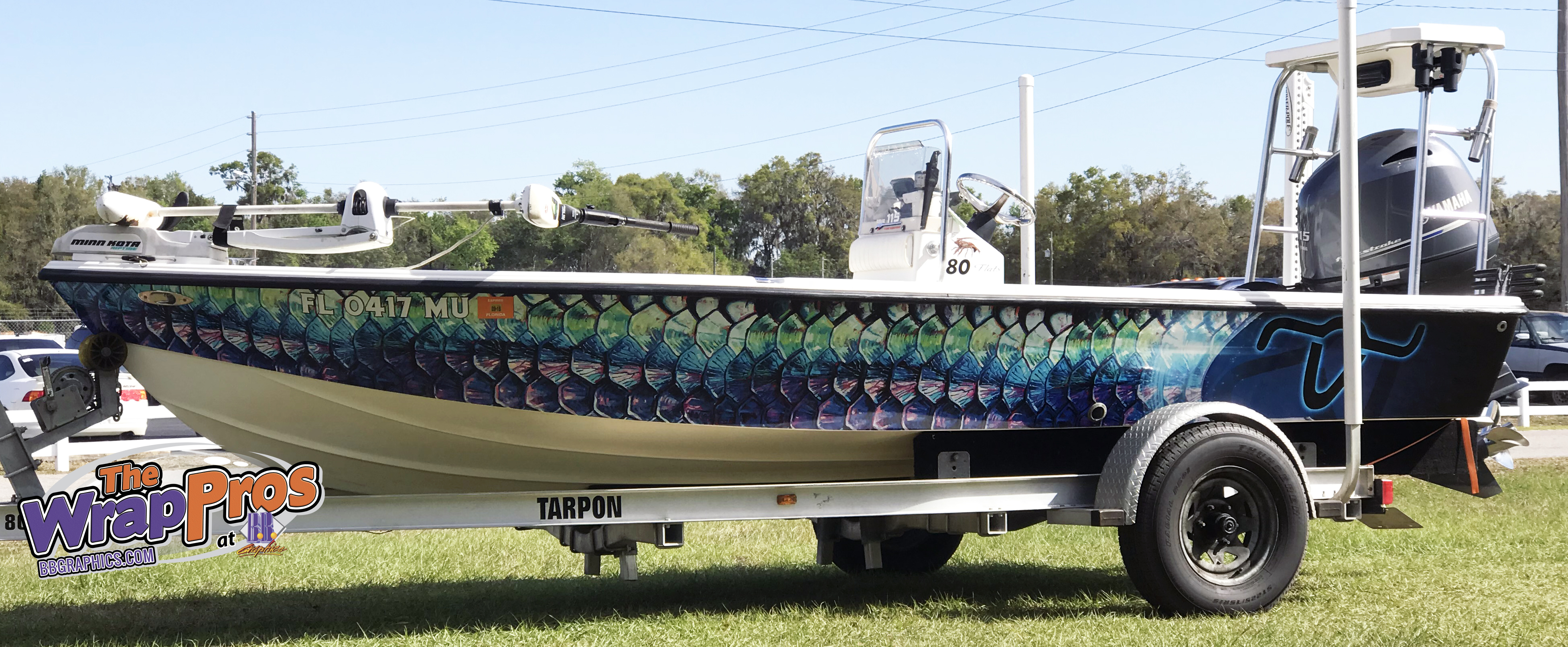 Rainbow Fish Scale Boat Wrap Bb Graphics Amp The Wrap Pros