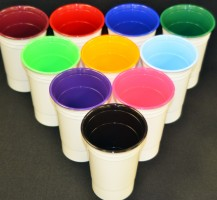 White Insulated Solo Cups with Colored Inside