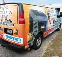 Langleys Residential Heating and Air Van