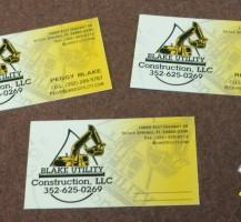Blake Utility Business Cards