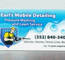 Earl's Mobile Detailing Business Cards