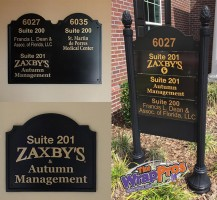Zaxbys Office Signs