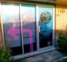 Ocala Power United Window Graphics – Side Entrance