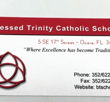 Blessed Trinity Business Card