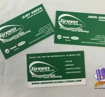 Green HVAC Business Cards
