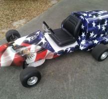 American Flag Go Cart