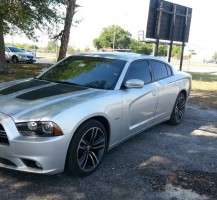 Charger with Stripes