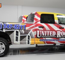 United Roofing Truck