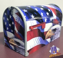 American Flag & Eagle Mailbox Wrap