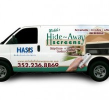 Hide Away Screens Van