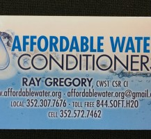 Affordable Water Conditioners Business Card