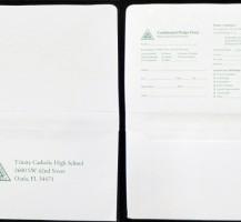 Trinity Catholic High School – Remittance Envelopes