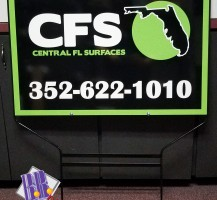 Central Florida Surfaces Yard Sign