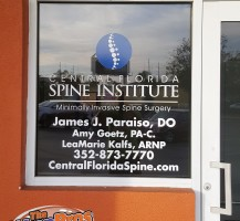 Central Florida Spine Institute Sign
