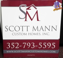 Scott Mann Custom Homes Sign