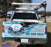 Chet Craig Plumbing Truck Full Wrap Back