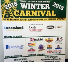 Trinity Catholic Winter Carnival Sign