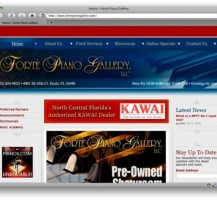 Forte Piano Gallery Website