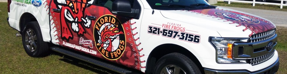 Fire Frogs Baseball Truck Wrap Hood Side Bb Graphics
