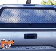 Diamond Plate Window Perf Back