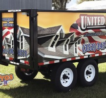 United Roofing Trailer Back