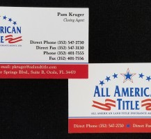 All American Title Business Cards